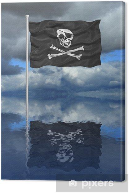 Tableau sur toile Drapeau de pirate réflexion - Vie