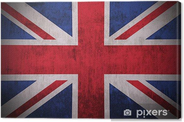 Tableau sur toile Drapeau patiné de Royaume-Uni, à texture de tissu - Thèmes