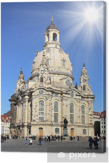 Tableau sur toile Dresde - Frauenkirche - Bâtiments publics