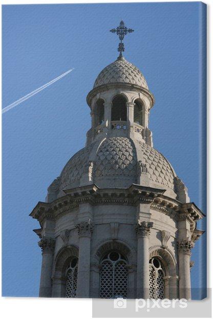 Tableau sur toile Dublin Landmark - tour ornée côté de Trinity College - Autres