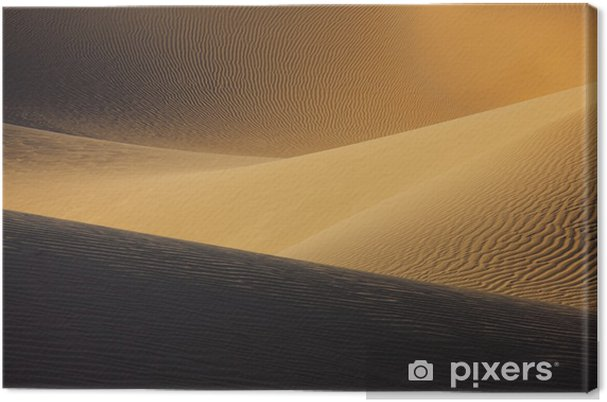 Tableau sur toile Dunes de sable du désert du Sahara. - Afrique