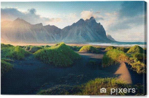 Tableau sur toile Dunes de sable noir en Islande - Paysages