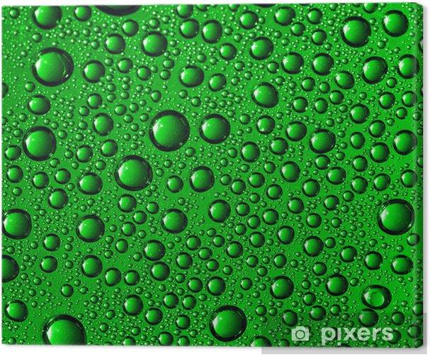 Tableau sur toile Eau verte tombe - Abstrait