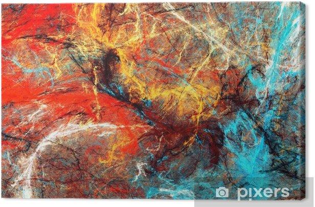 Tableau sur toile Éclaboussures artistiques lumineuses. texture de couleur peinture abstraite. modèle futuriste moderne. arrière-plan dynamique multicolore. oeuvre de fractale pour la conception graphique créative - Ressources graphiques