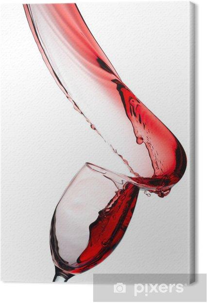 Tableau sur toile Éclaboussures de vin rouge - Thèmes