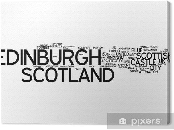 Tableau sur toile Edimbourg (Ecosse) - Typographie - Thèmes