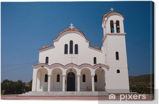 Tableau sur toile Église grecque blanc - Religion