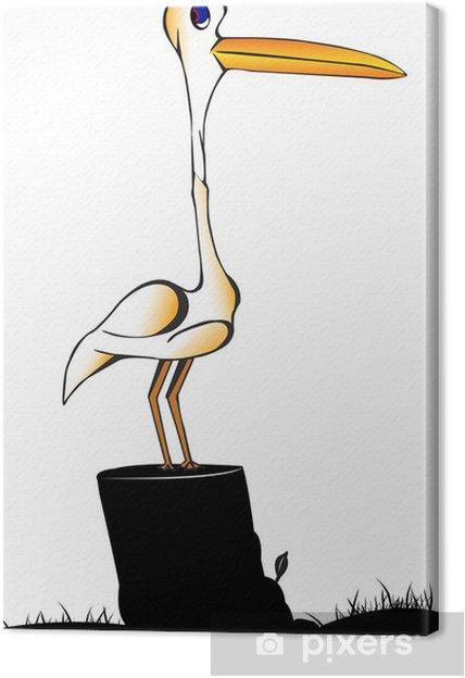 Tableau sur toile Egret - Oiseaux