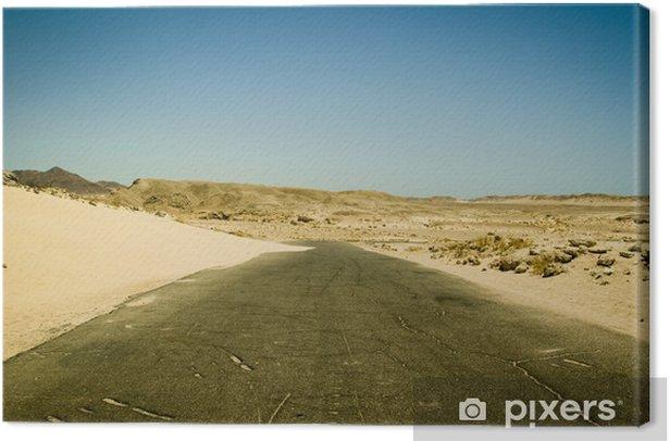 Tableau sur toile Egypte route - Désert