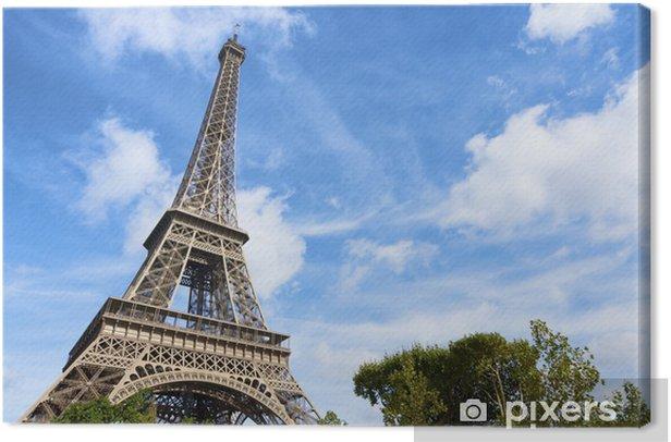 Tableau sur toile Eiffel tower - Villes européennes