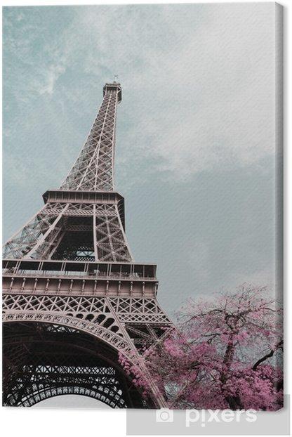 Tableau sur toile Eiffel tower - Voyages