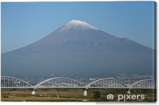 Tableau sur toile Eisenbahnbrücke suis Fuji, Japon - Asie