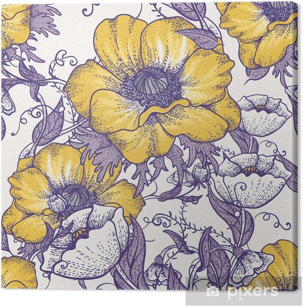 Tableau sur toile Elegance wallpaper fond floral - Styles