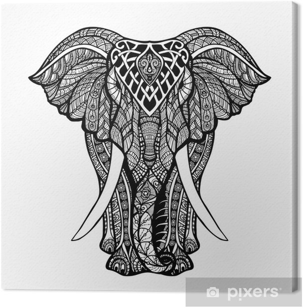 Tableau sur toile Elephant décoratif Illustration - Mammifères