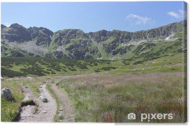 Tableau sur toile Élevé paysage de montagnes - Montagne