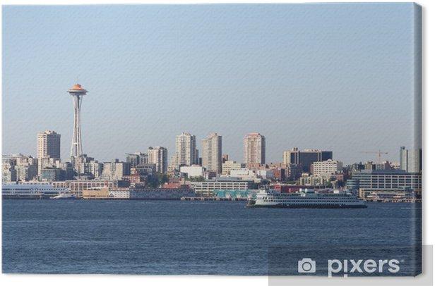 Tableau sur toile Elliott Bay, Washington State Ferry, Seattle - Amérique