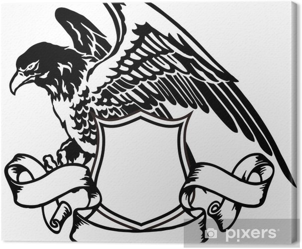 Tableau sur toile Emblème de l'aigle - Sticker mural