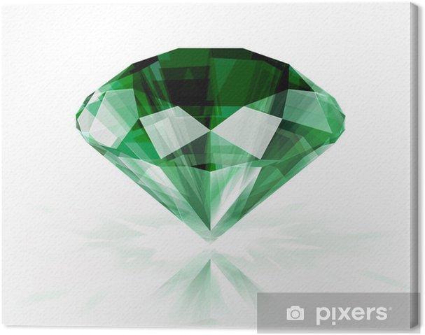 Tableau sur toile Emerald isolé sur fond blanc - eps10 - Vente