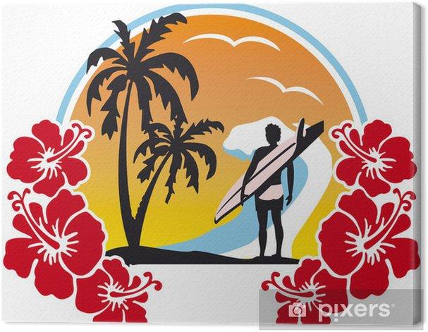Tableau sur toile En attendant les vagues - Arbres et feuilles