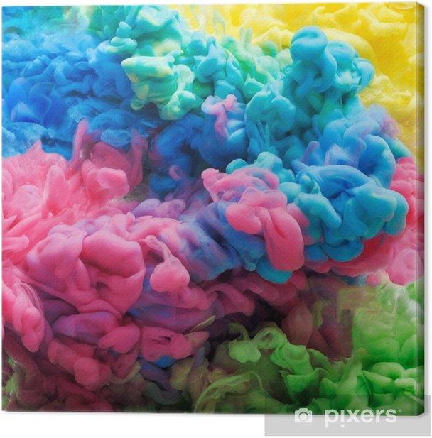 Tableau sur toile Encre acrylique colorée dans l'eau isolée. fond abstrait. explosion de couleur - Ressources graphiques