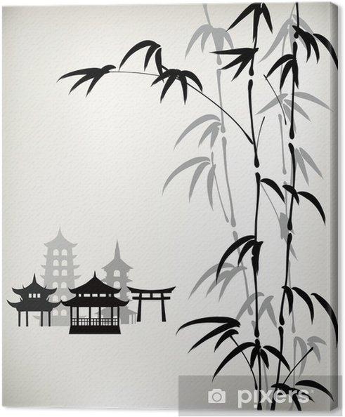 Tableau sur toile Encre bambou peints - Art et création