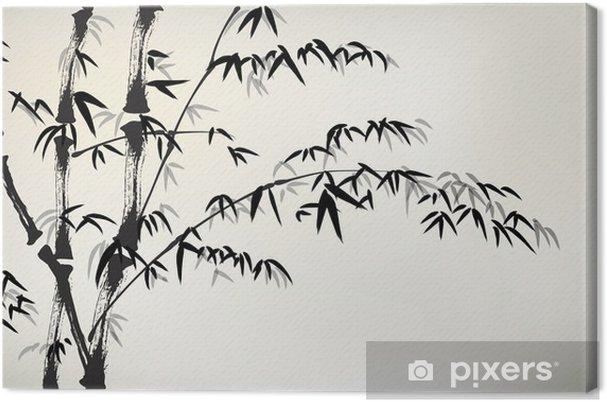 Tableau sur toile Encre bambou peints - Plantes