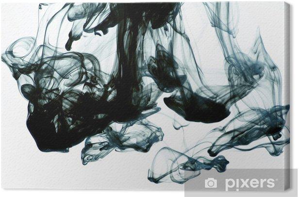 Tableau sur toile Encre dans l'eau sur fond blanc - Thèmes