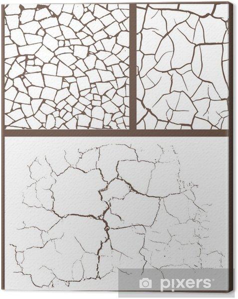 Tableau sur toile Ensemble Cracked - Arrière plans