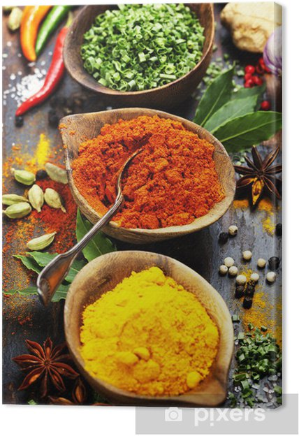 Tableau sur toile Épices et fines herbes - Culinaire
