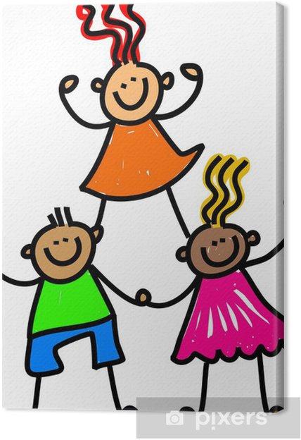 Tableau sur toile Équipe de Happy Kids - Autres sentiments
