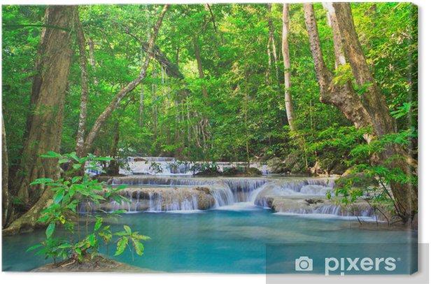 Tableau sur toile Erawan cascade dans la province de Kanchanaburi de la Thaïlande - Thèmes