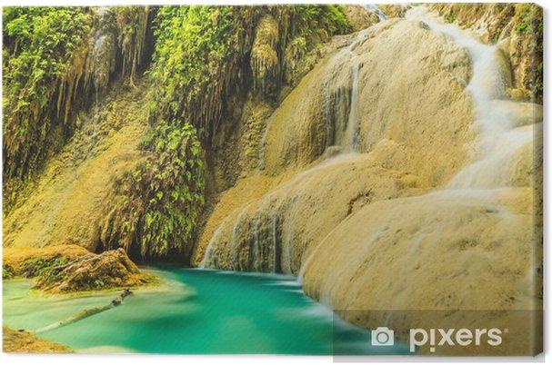 Tableau sur toile Erawan cascade - Asie