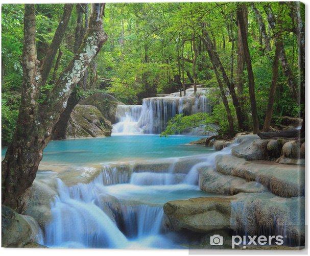 Tableau sur toile Erawan Waterfall, Kanchanaburi, Thaïlande - Cascades