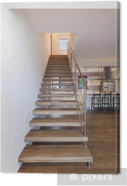 Tableau sur toile Escalier moderne, intérieur de maison