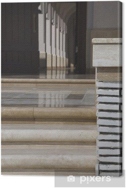 Tableau sur toile Escaliers de la Grande Mosquée de Salalah, Oman - Bâtiments publics