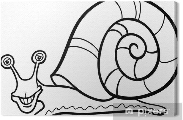 Tableau Sur Toile Escargot Dessin Anime De Mollusque Pour Livre De Coloriage Pixers Nous Vivons Pour Changer