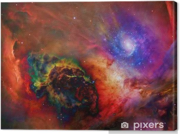 Tableau sur toile Espace Galactic Certains éléments fournis avec la permission de NASA__ - Science