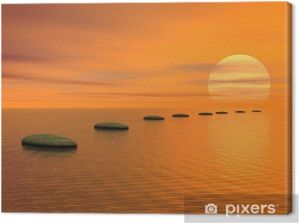 Tableau sur toile Étapes à suivre pour le soleil - Thèmes