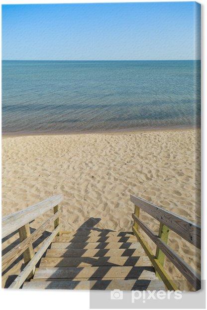 Tableau sur toile Étapes de plage - Vacances