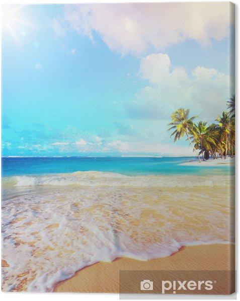 Tableau sur toile Été vacances plage de l'océan d'art - Palmiers