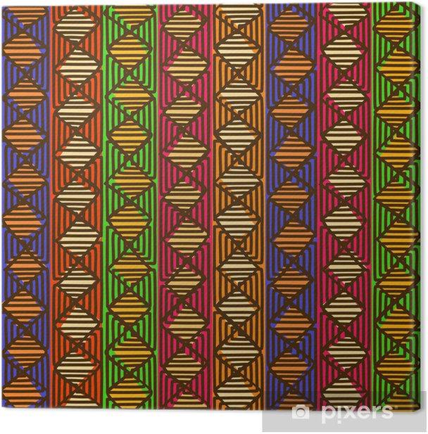 Tableau sur toile Ethnic seamless géométrique - Arrière plans
