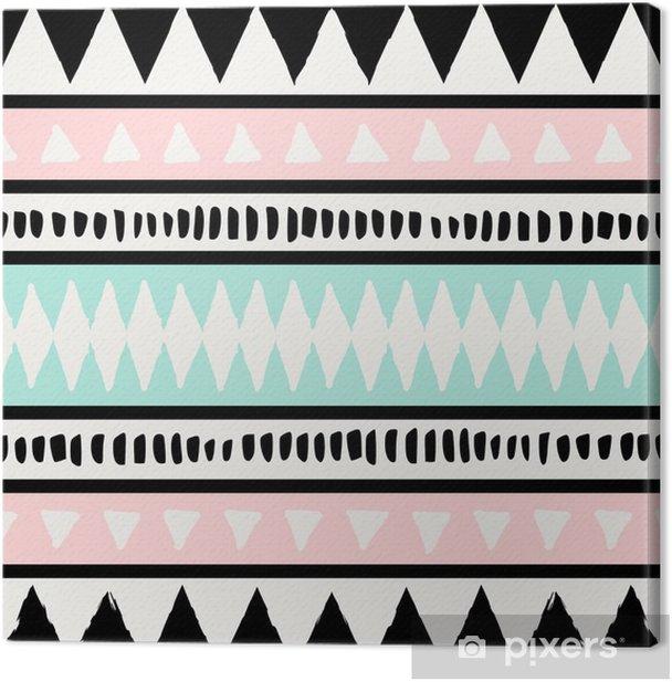 Tableau sur toile Ethnic seamless pattern - Ressources graphiques
