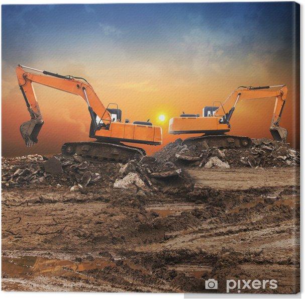 Tableau sur toile Excavateur - Machines