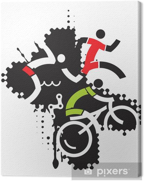 Tableau sur toile Extreme triathlon____ sport - Sports d'extérieur