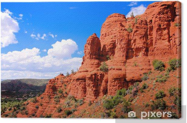 Tableau sur toile Falaises rouges touristiques à Sedona, Arizona, Etats-Unis - Thèmes