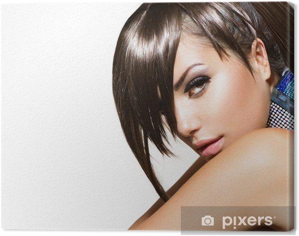 Tableau sur toile Fashion Beauty Girl. Portrait de femme magnifique - Femmes