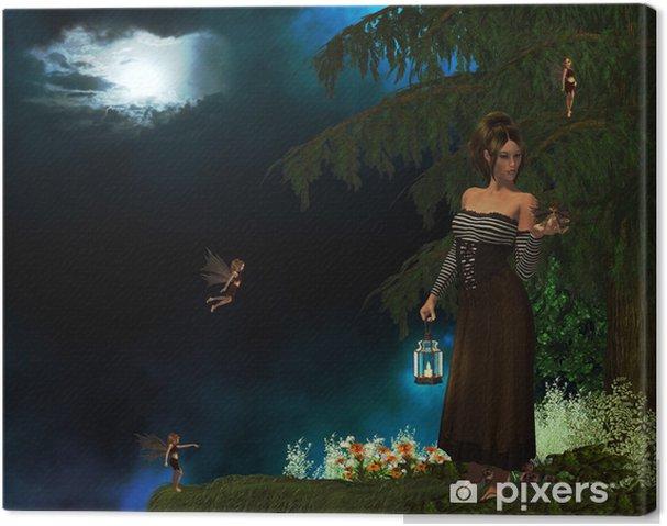 Tableau sur toile Fée perdu - Animaux imaginaires