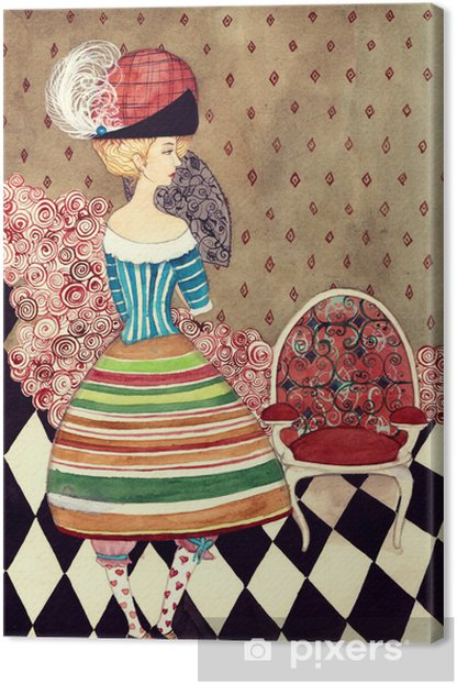 Tableau sur toile Fées dame - Mode