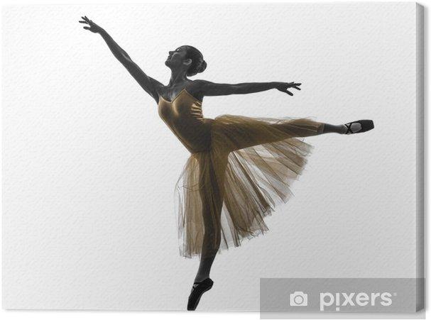 Tableau sur toile Femme danseuse de ballet silhouette de danseur de ... df8e435c8e7