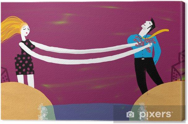 Tableau sur toile Femmes et hommes séparés - Couples